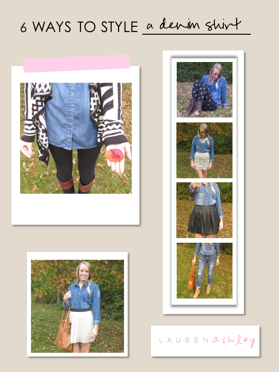 6 ways to style a denim shirt