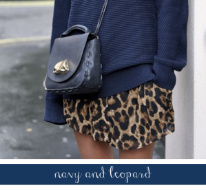 navy and leopard