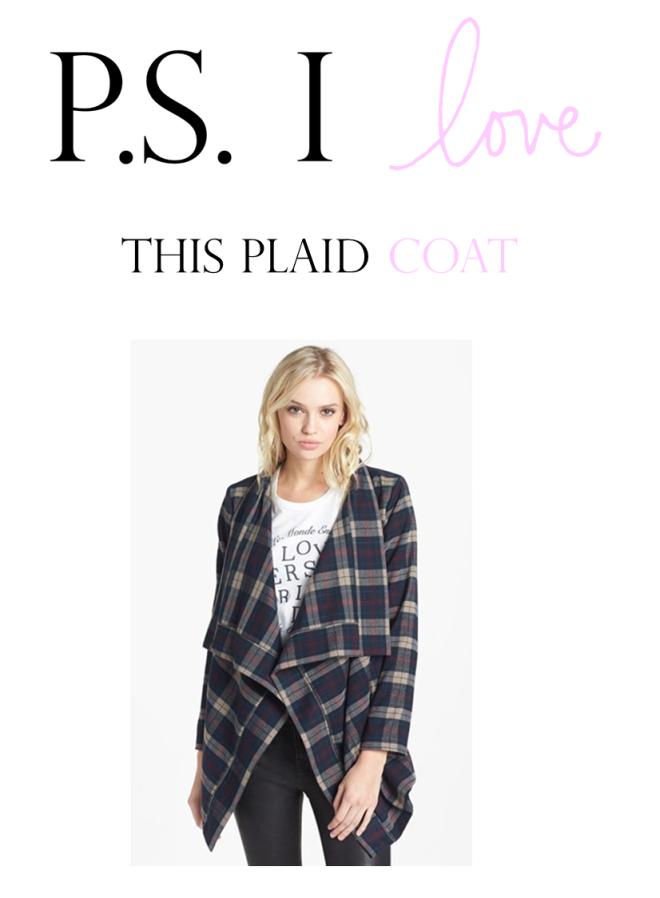 ps i love this plaid coat