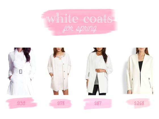 white coats for spring