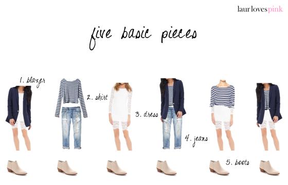 five basic pieces