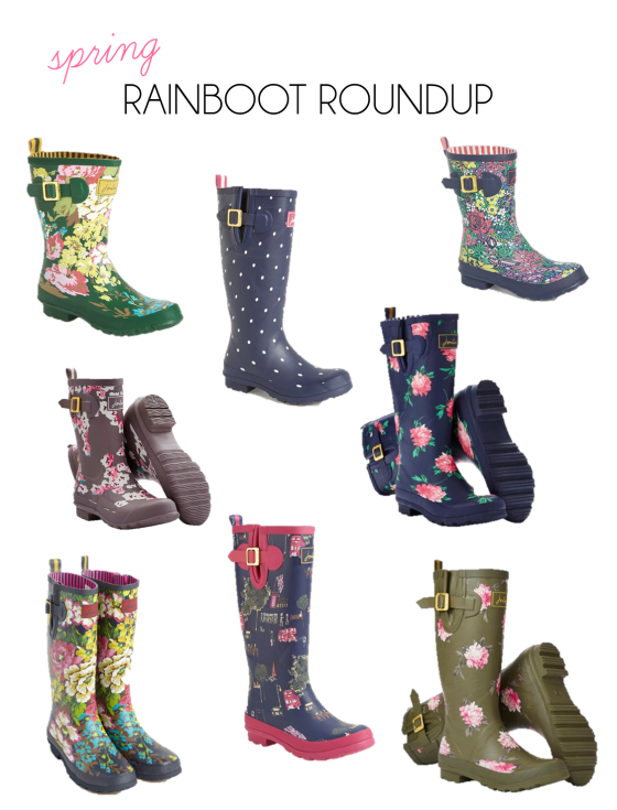 spring rainboot roundup